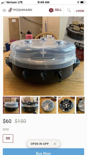 3 bay Electric Crock Pot for Sale in Gilmer, TX