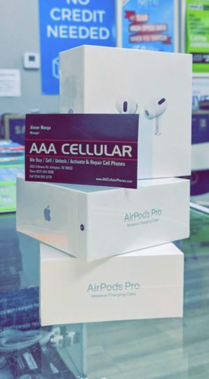 Apple AirPods Pro - Brand New In Box - Genuine Original - Works with iPhone 11 Pro Max XS Max XR for Sale in Arlington, TX