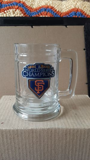 2010 San Francisco Giants Baseball Wold Series Champions Glass Mugs $15 for Sale in Stockton, CA