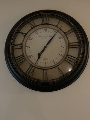 """12"""" diameter antique look wall clock for Sale in St. Louis, MO"""