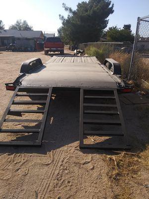 Car trailer heavy duty 17 ft x 7 trucks and cars quads rzr razor polaris traila para jalar paperwork in hand. Double axle for Sale in Fontana, CA