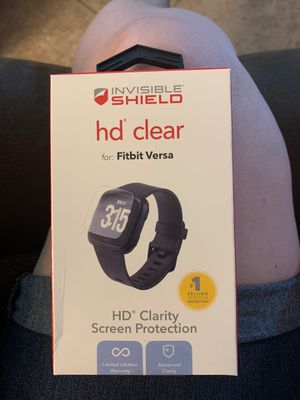 Clear Glass Protector Fit Bit Versa 2 for Sale in San Tan Valley, AZ
