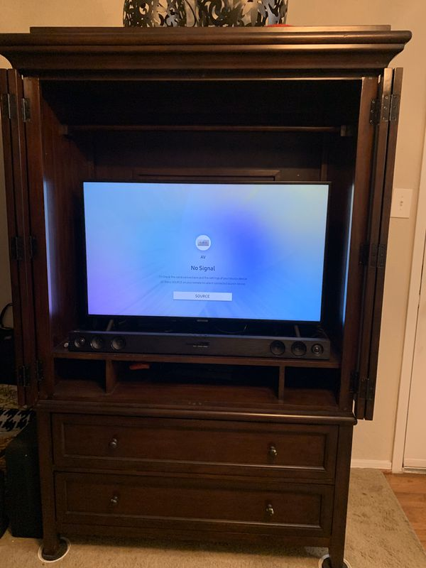 Cherry wood wardrobe/entertainment Armoire 6ft