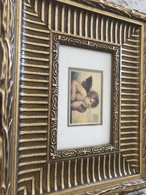 2 beautiful Angel golden frame pictures for Sale in Ashburn, VA