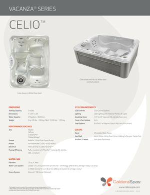 Caldera Celio 3 person hot tub for Sale in Miami, FL