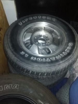 4 Firestone LE 265/70/16 tires with rims (6 lug) for Sale in US