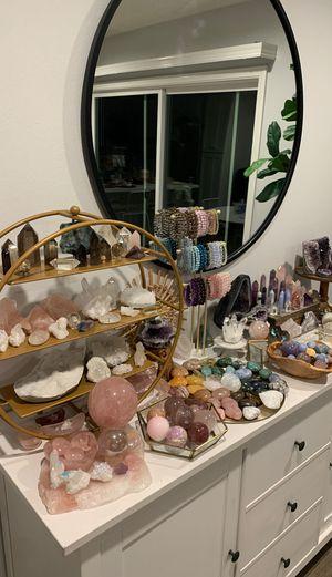 Healing crystals gemstones gems reiki quartz amethyst rose geode chakra yoga for Sale in Huntington Beach, CA