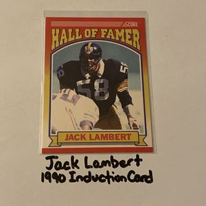 Jack Lambert Pittsburgh Steelers Hall of Fame LB 1990 Induction Card. for Sale in San Jose, CA