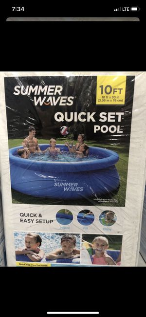 """Summer Waves 10'x30""""Above Ground Inflatable Ring Pool W/Filter,Pump Brand New for Sale in Turlock, CA"""