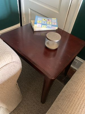 Dark Cherry Wood End Table Set +Free Coffee Table for Sale in Bethlehem, PA