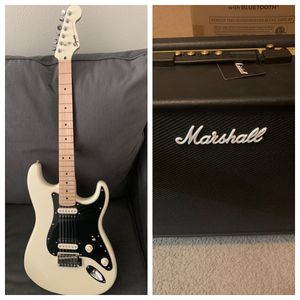 Fender Squier Contemporary Stratocaster HH Guitar and Marshall Code 50 Guitar Amp (see description) for Sale in Houston, TX