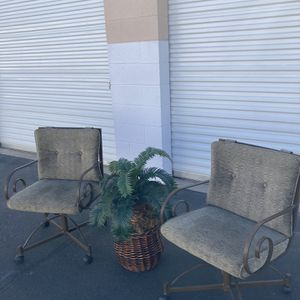 Iron Work Chairs & Plant Set for Sale in Phoenix, AZ