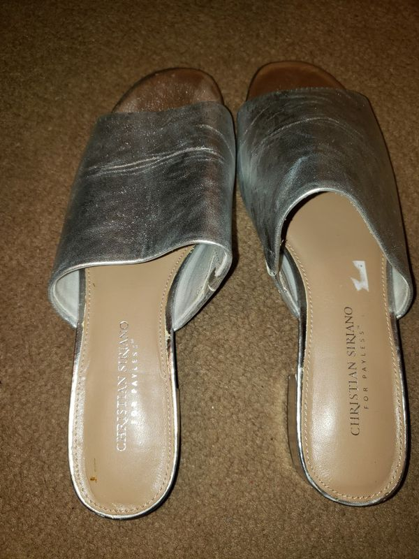 Silver womens shoes