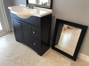 "36""espresso vanity with sink, faucet and mirror! for Sale in Cutler Bay, FL"