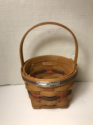 Longaberger 1989 Inaugural Basket for Sale in Chantilly, VA