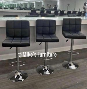 New 3 black bar stools $55 each for Sale in Orlando, FL