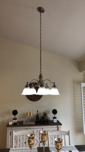 Nickel light color chandelier for Sale in Parlier, CA