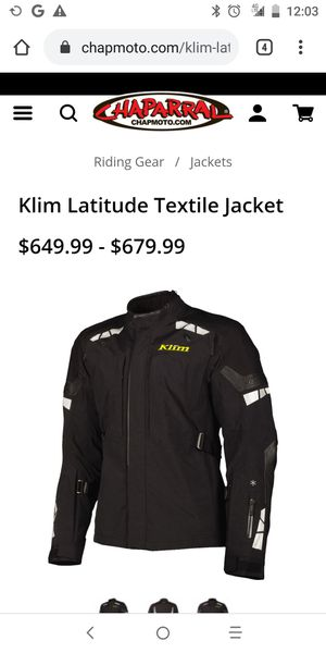 Klim motorcycle jacket, never used. Excellent condition female agvsport motorcycle jacket. Men's size 2x and female size large w detachable liner. for Sale in Riverview, FL