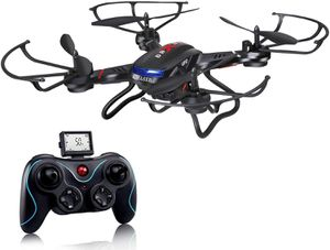 Quadcopter Drone with HD Camera RTF 4 Channel 2.4GHz 6-Gyro with Altitude Hold Function,Headless Mode and One Key Return Home (Black) for Sale in Henderson, NV