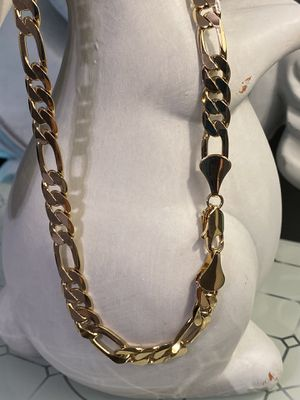 "18k GPL Men's Figaro Chain Necklace 18"" 9mm for Sale in Nashville, TN"