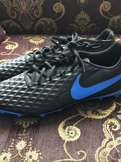 Mens Black Blue Nike Tiempos Soccer Cleats Size 13 for Sale in San Diego,  CA