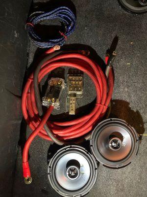 Kicckers 5 1/2 door mids with 0gauge P/G wire installed Kitt for Sale in North Las Vegas, NV
