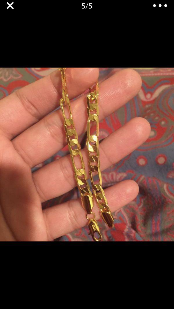 18k gold filled unisex bracelet bangle jewelry accessory fashion