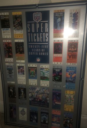 Twenty 5 years of Super bowl tickets for Sale in Tampa, FL