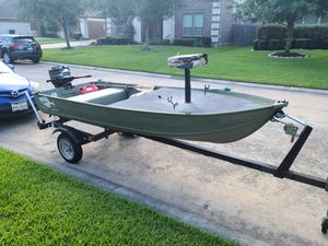 Aluminum boat for Sale in Spring, TX