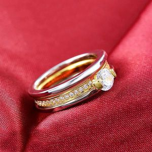 18K Gold plated Engagement/ Wedding Ring - Code / Double for Sale in Dallas, TX