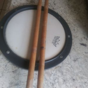 Drumming Practice Pad With Sticks for Sale in Port St. Lucie, FL
