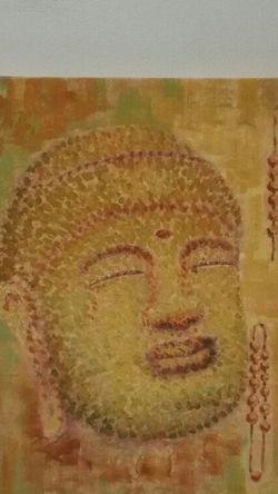 """BUDDHIST Image (24"""" square x 1.5"""" Deep) Painted on CANVAS - lightweight wood frame - firm price. for Sale in Arlington,  VA"""