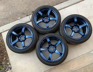 ADVAN RACING TC-4 18X9.5 +38 5x120 WHEEL IN INDIGO BLUE for Sale in Vista, CA