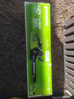 """Greenworks 14"""" Cordless chainsaw """"BRAND NEW IN BOX"""". for Sale in Poway, CA"""