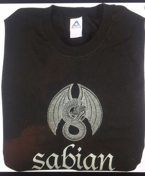 Sabian cymbals Dragon black T shirt XL brand new for Sale in Las Vegas, NV