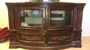 Solid wood huch/small cabinet. for Sale in Desert Hot Springs, CA