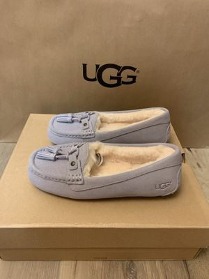 100% Authentic Brand New in Box UGG Women's Litney Fea Moccasin Slippers / Women size 11 for Sale in Walnut Creek, CA