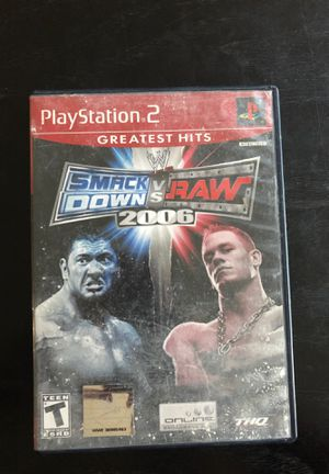 Smack Down vs Raw ps2 game for Sale in Salisbury, NC