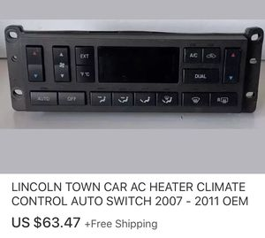 LINCOLN TOWN CAR AC HEATER CLIMATE CONTROL AUTO SWITCH 2007 - 2011 OEM for Sale in Everett, WA