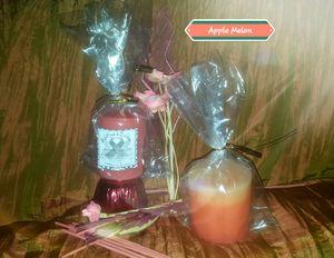 Toned Candles 2 pillars set- Apple Melon for Sale in Murfreesboro, TN