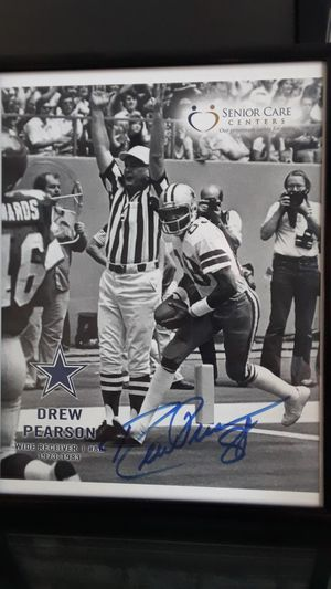 DALLAS COWBOYS DREW PEARSON AUTOGRAPHED FRAMED PHOTO for Sale in Clovis, CA