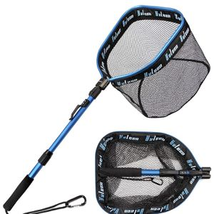 FFloating Fishing Net - Folding Fishing Landing Net with Rubber Coating Mesh for Easy Fish Catch and Release, Fishing Net for Freshwater and Saltwater for Sale in Missouri City, TX