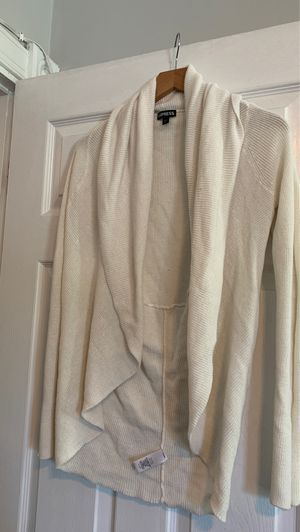 Express cardigan cream colored small for Sale in Washington, DC