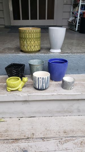 Collection of plant/flower pots for Sale in Portland, OR