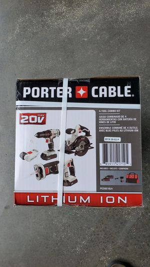 New Porter Cable 4 tools 20V set for Sale in Issaquah, WA
