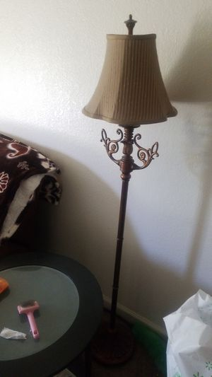 Matching floor lamps like new both gold for Sale in Fresno, CA