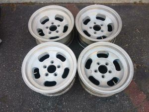 Ansen Sprint 15x7 inch Slotted mag wheels. 5 on 4.75 chevy and GM cars for Sale in Montebello, CA