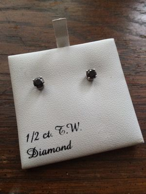 1/2 CTTW Black Diamond stud earrings for Sale in Wake Forest, NC