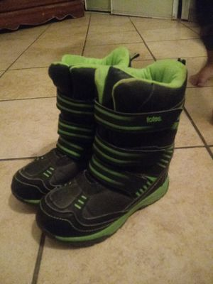 Kids heavy duty snow boots or wat ever good condition harley worn size 1 m for Sale in Phillips Ranch, CA