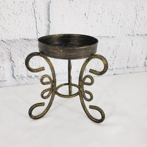 """5.5"""" METAL PILLAR CANDLE HOLDER Brown Gold Distressed finish for Sale in Queen Creek, AZ"""